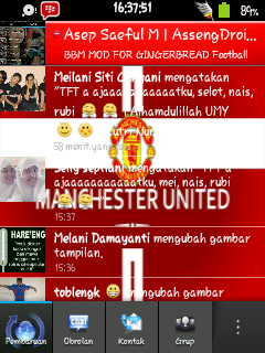BBM Gingerbread Manchester United