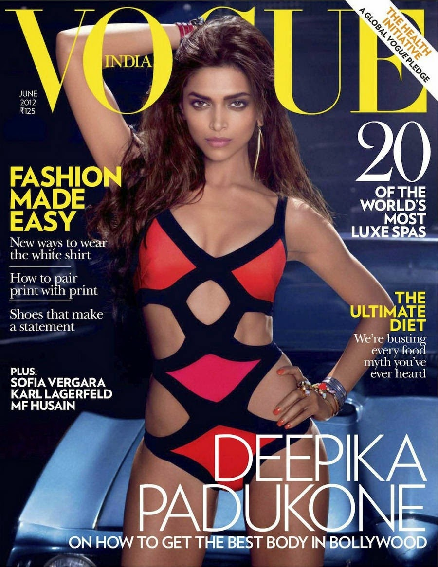 Deepika Padukone in Bikini in Vogue India Magazine Cover