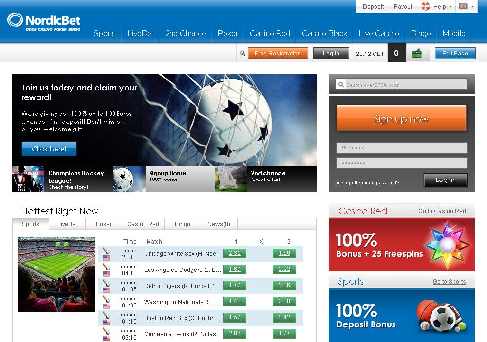 NordicBet Screen