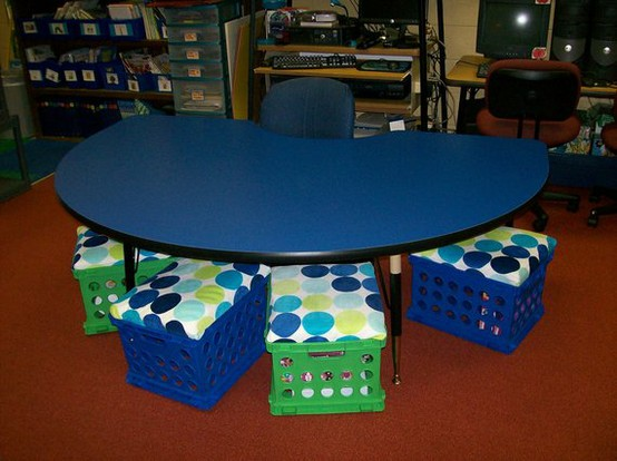 Modern Classroom Seating ~ Not just for elementary crate seats extra seating and