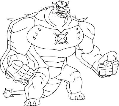 Desenho do Ben 10 para colorir