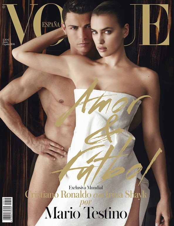 "Ronaldo and his girlfriend Irina Shayk ""hot"" and ''Naked'' for Vogue"