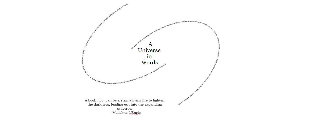 A Universe in Words