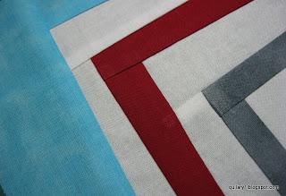 blue, red, grey modern block