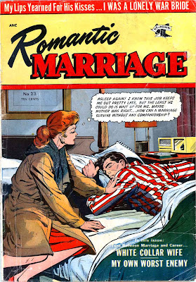 Romantic Marriage v1 #23 st.john romance comic book cover art by Matt Baker