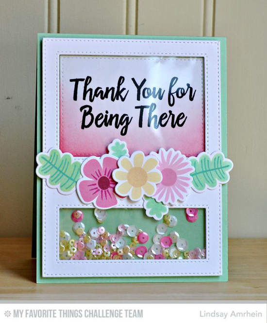 Floral for Being There Card by Lindsay Amrhein featuring the Thanks So Much stamp set, the Fall Florals stamp set and Die-namics, and the Stitched Cover-Up Companion Vertical Die-namics #mftstamps