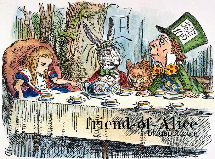 Alice from Wonderland is my friend.