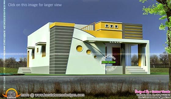 Tamilnadu model small budget house kerala home design for Tamilnadu house models