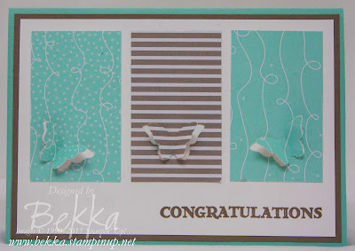 Congratulations - A Way To Use Your Patterned Paper Scraps