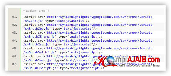 Syntax Highlighter JavaScript