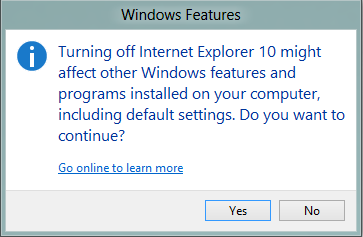 Cara Uninstall Internet Explorer 10 di Windows 8