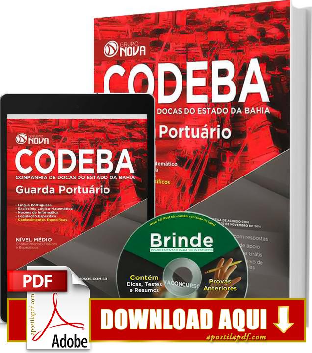 Apostila CODEBA 2015 Guarda Portuário Impressa PDF Download Grátis