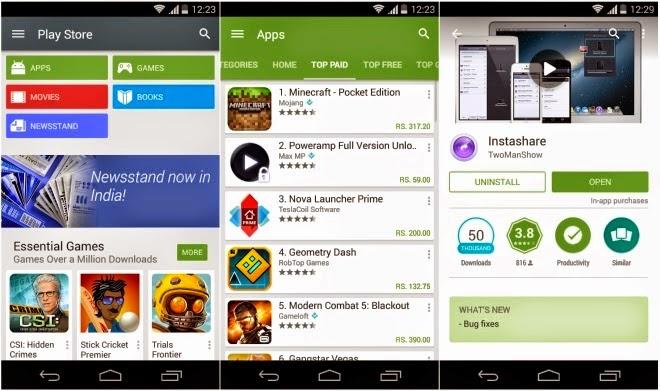 تحميل أحدث إصدار من متجر جوجل بلاي باللغة العربية للأندرويد Google Play Store 5.0.38.apk
