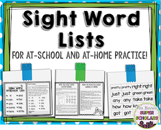 https://www.teacherspayteachers.com/Product/Sight-Word-Lists-and-Letters-All-220-Dolch-Words-1923692