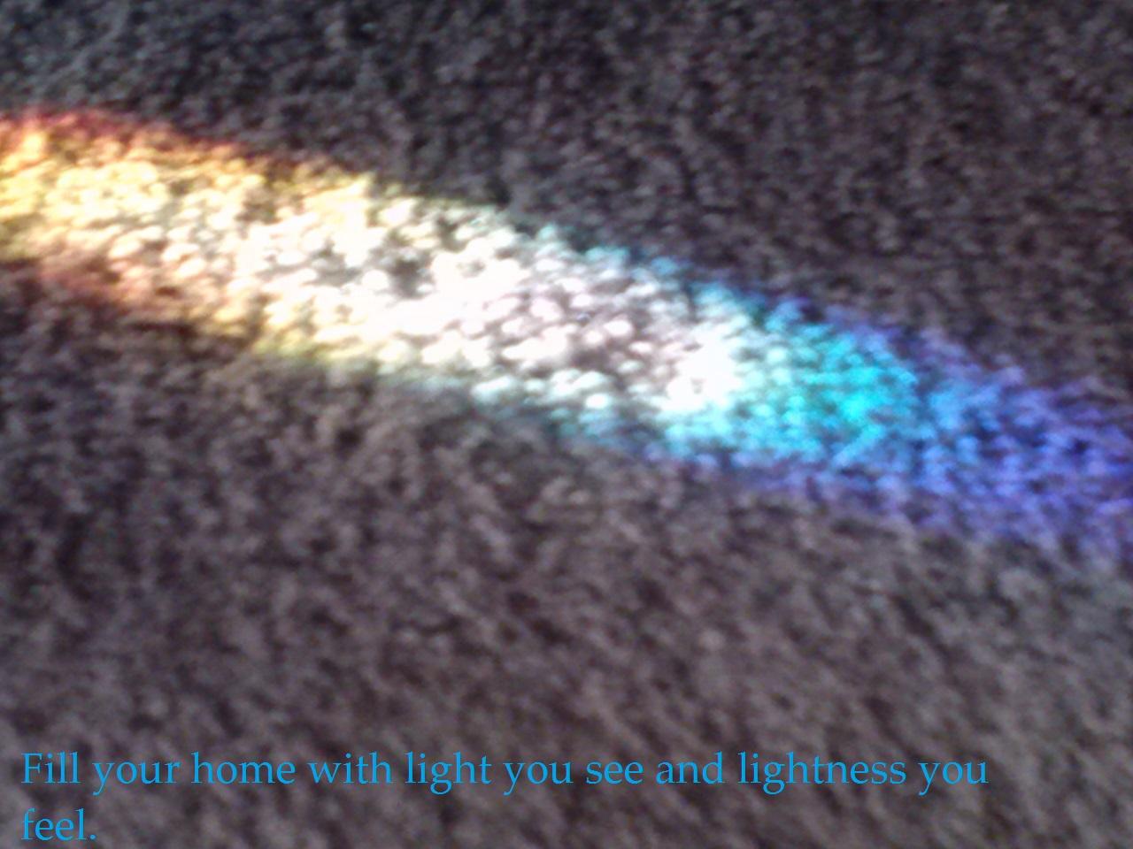Rainbow light #happyhome
