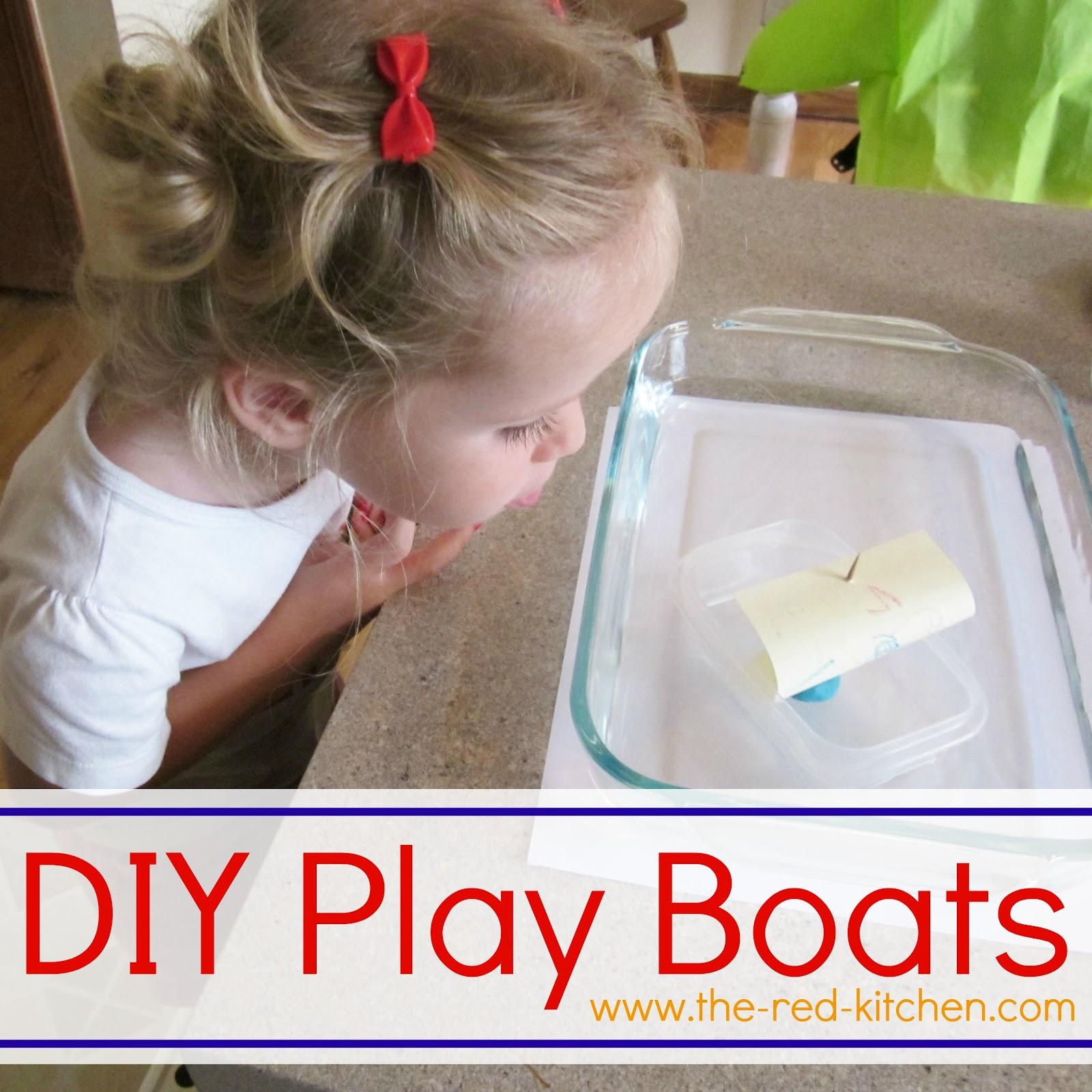 DIY Play Boats Mini Tutorial Preschool Activity