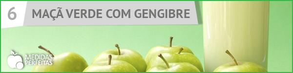 Suco de Maçã Verde com Gengibre - Receitas de Sucos Detox