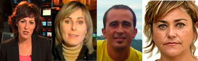 Cristina Ónega, Silvia Rodríguez, Diego Arizpeleta, Cristina Alcaine