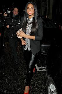 Alesha Dixon Leather Leggings
