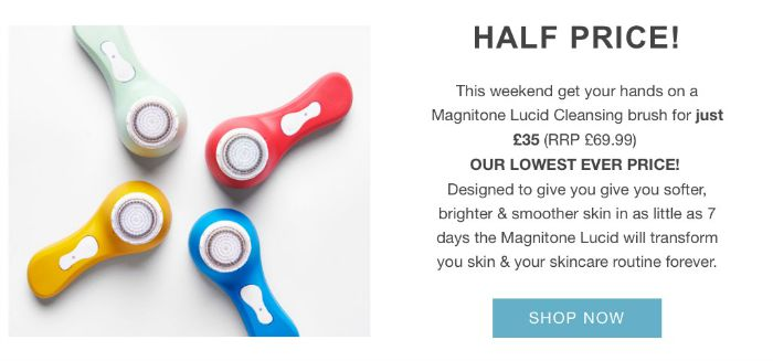 Magnitone Lucid Cleansing brush