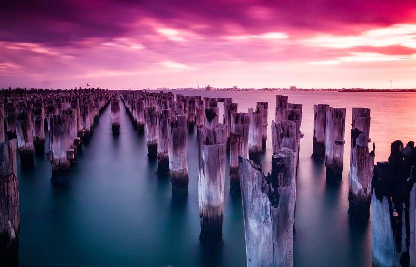 fioletowe jezioro