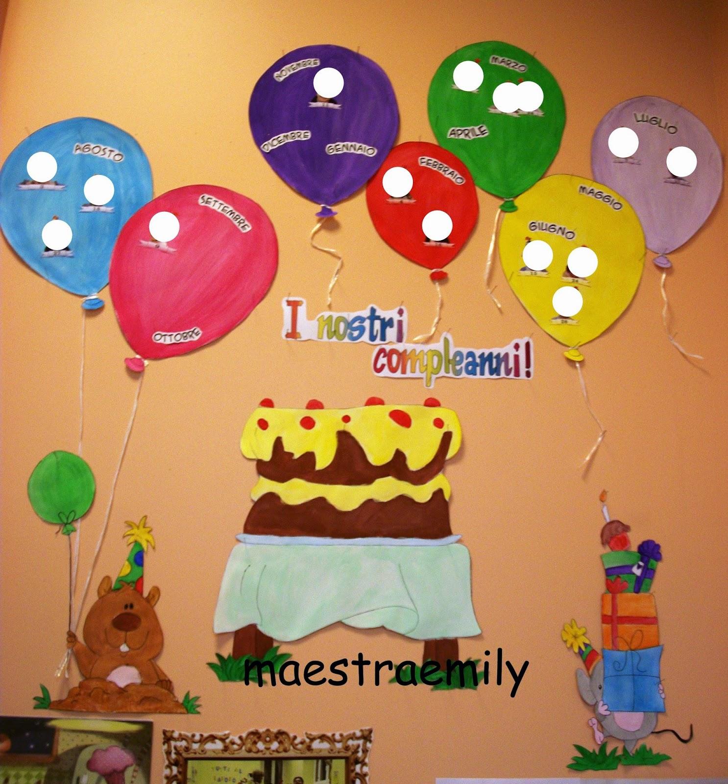 Maestraemily il cartellone dei compleanni for Cartelloni scuola infanzia