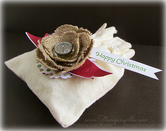 Happy Christmas Mini Muslin Bag
