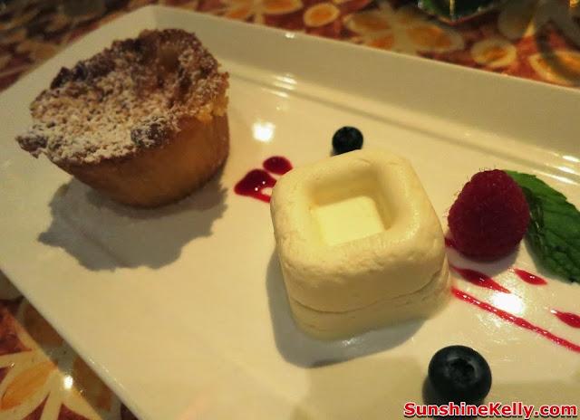 Frescobaldi Wine, Dinner, Villa Danieli, Sheraton Imperial hotel, Small pears, custard cream sable pie, frozen yogurt mousse, dessert