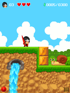 Screenshots of the Mojo Adventure for java mobile, phone.