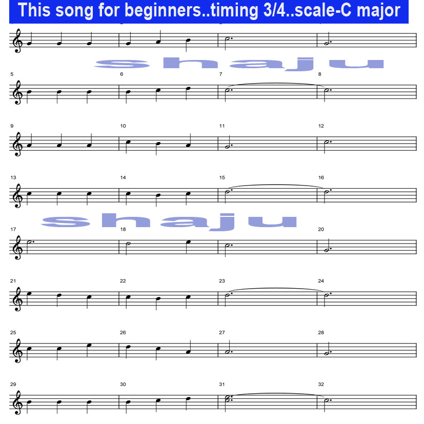 Shaju\'s Guitar Lessons: This song\'s notes only in first three ...