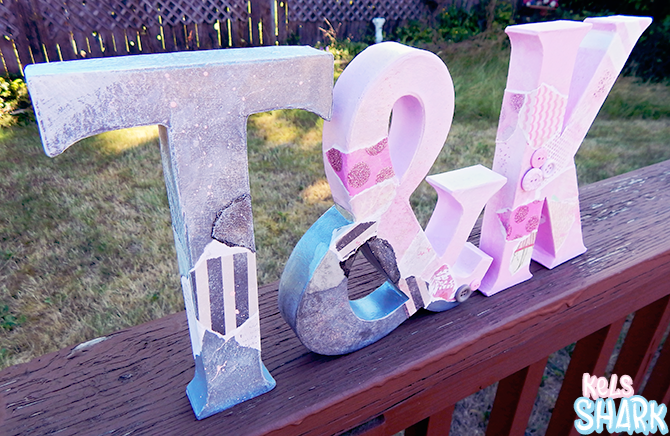 in true kels fashion i just used whatever felt right trying out random techniques and materials to decorate the letters as such i cant really give you