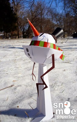 Snowman Papercraft Model