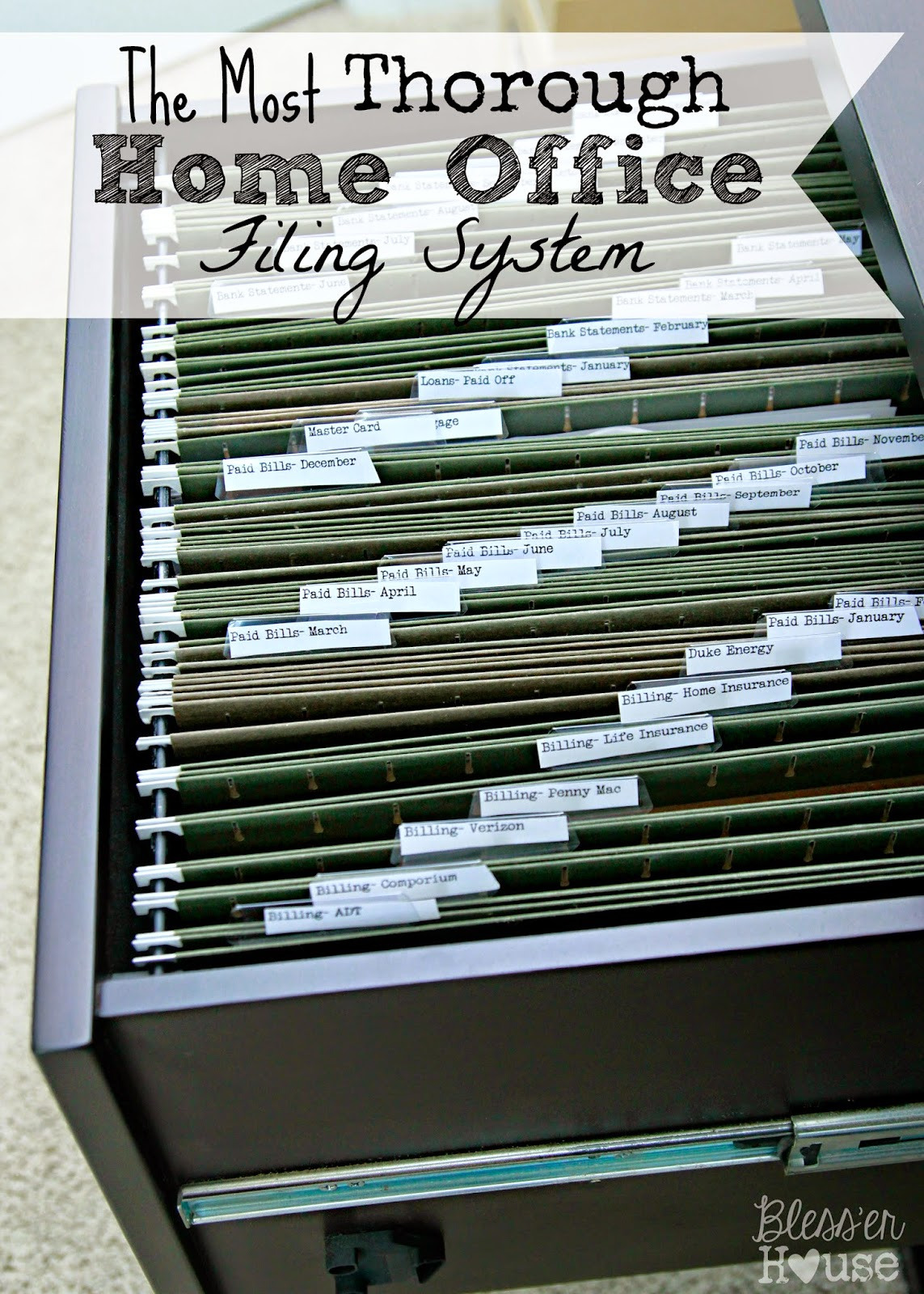 Many ... & Organizing the Most Thorough Home Office Filing System - Blessu0027er House