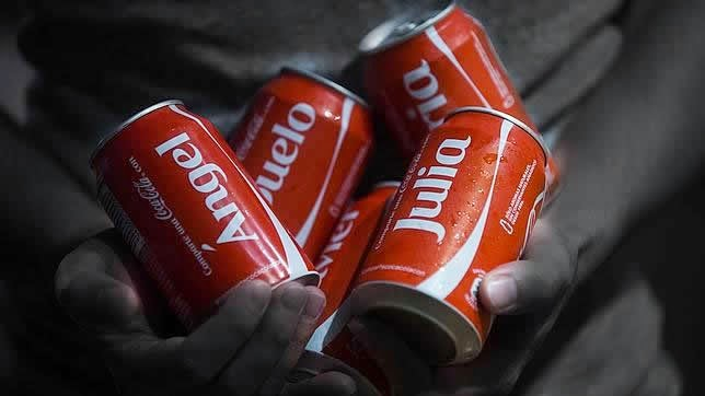 lista completa de nombres en las latas de CocaCola México 2014