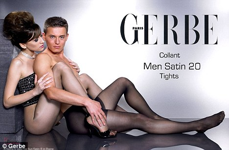 man wearing pantyhose