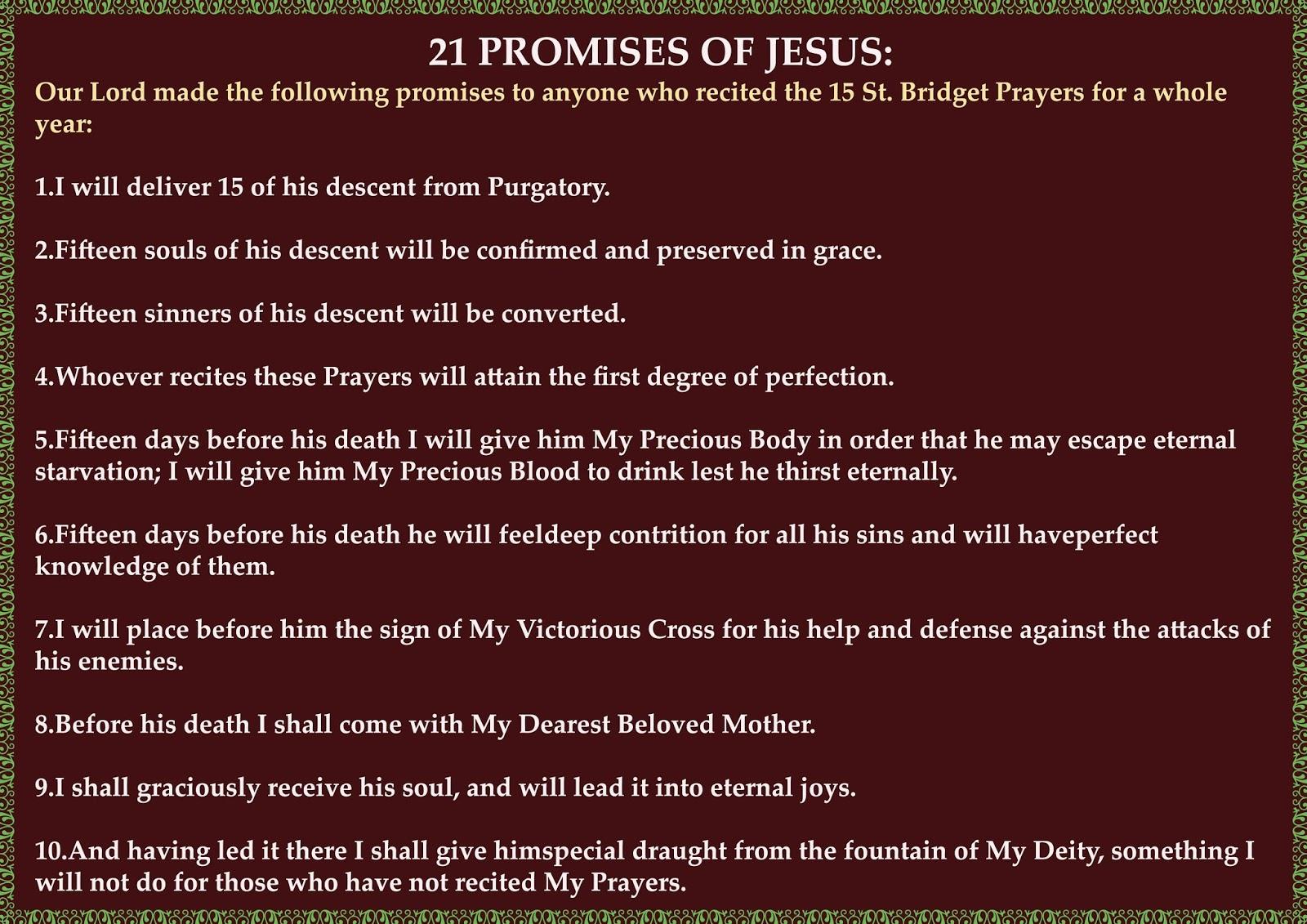 15 prayers of st bridget of sweden pdf