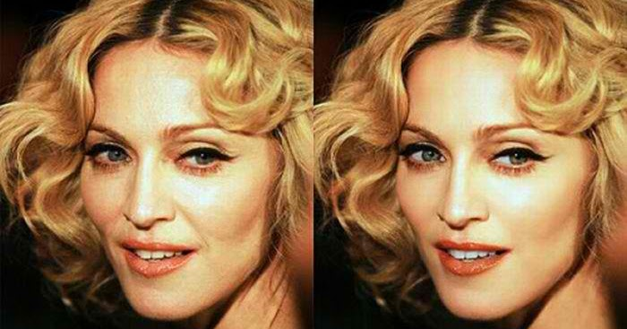 HOLLYWOOD CELEBRITIES BEFORE PHOTOSHOP: Madonna - Before ...