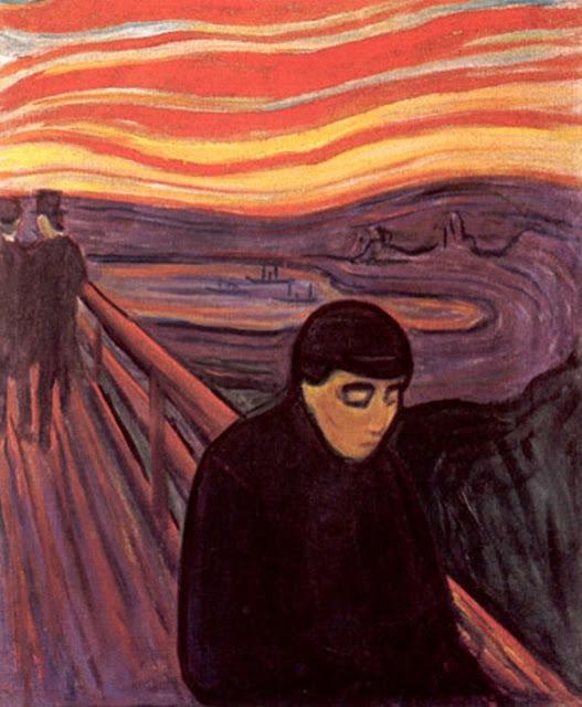 """Э. Мунк. """"Отчаяние"""" (1894)"""