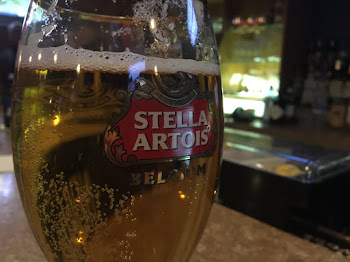 Change of Pace .....Having a Stella at Petes