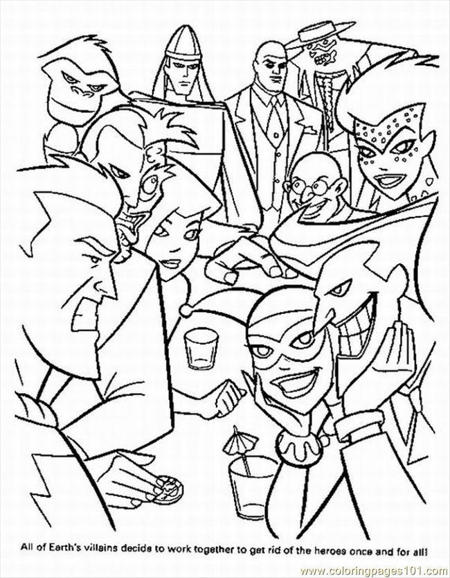 superhero mini coloring pages - photo#5
