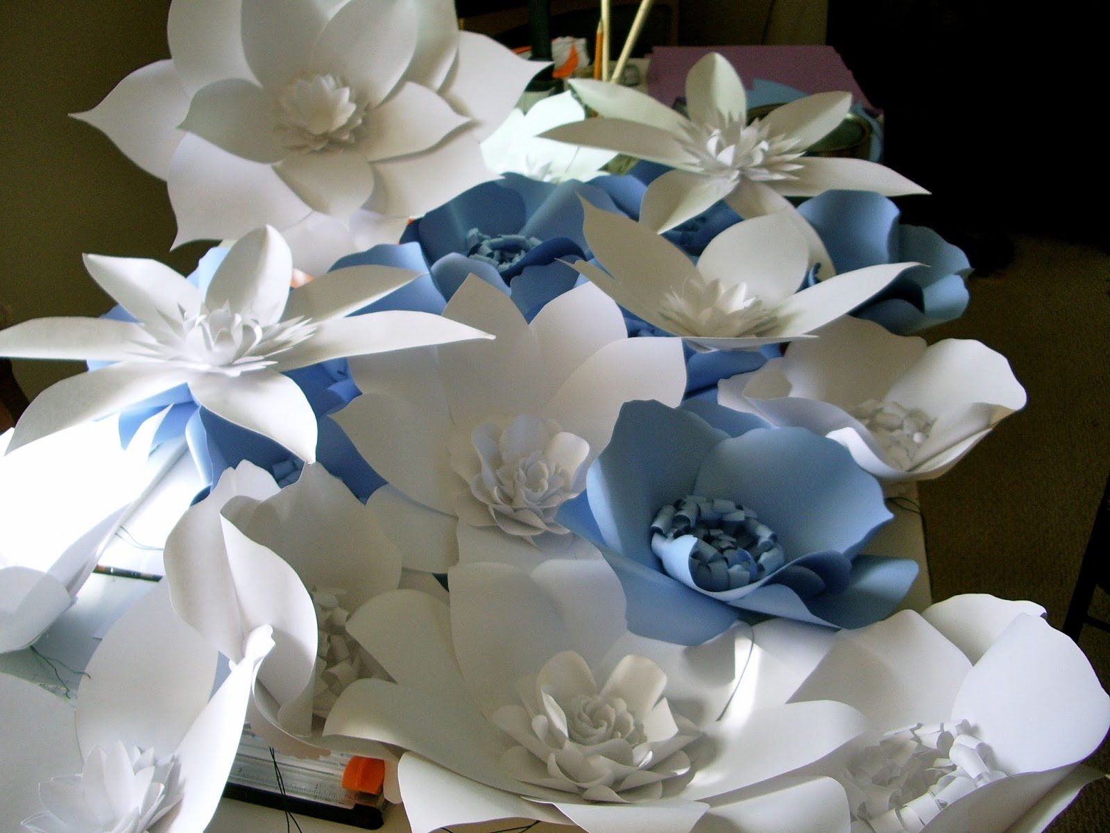 atmosphere designs large paper flower walls