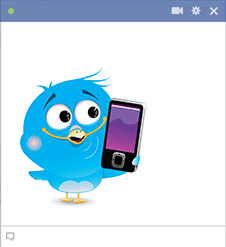 Bird icon with smartphone