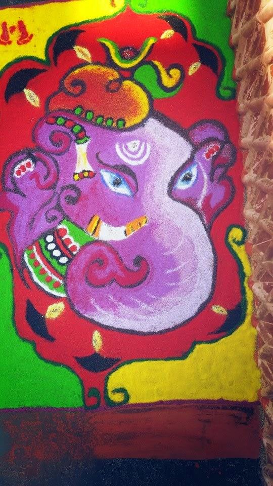 Ganesha Rangoli 32