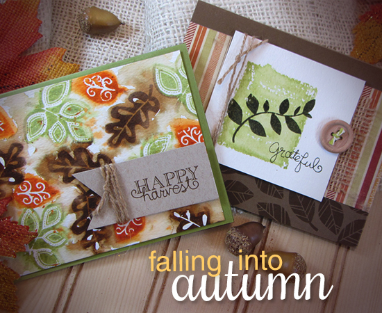 Falling into Autumn Stamp set by Newton's Nook Designs - Fall Leaf cards by Jennifer Jackson