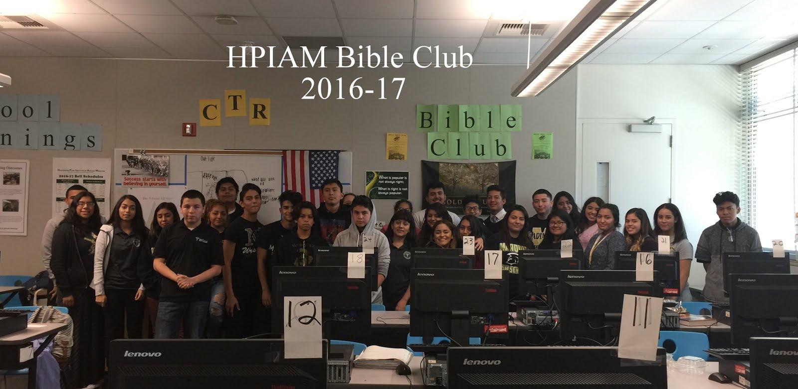 Bible Club Members 2016-17