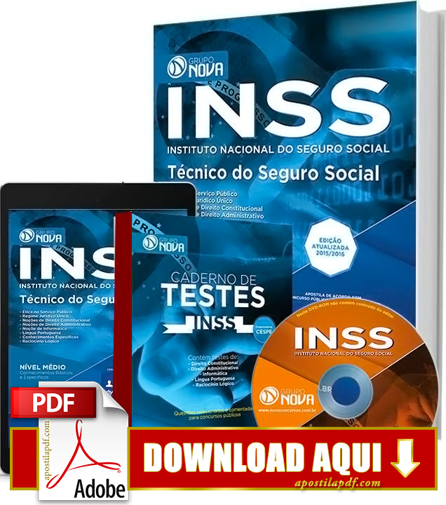 Apostila INSS 2016 PDF Download Grátis Técnico do INSS