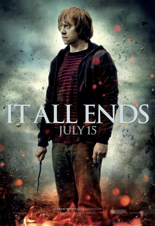 Harry Potter Deathly Hallows Part 2 Ron Weasley poster
