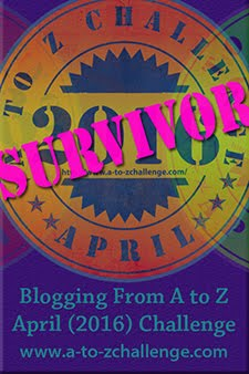 Survivor of A to Z April 2016 Challenge