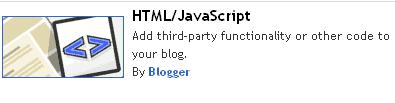 penambahan widget di blog