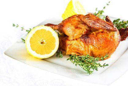 طريقة عمل الدجاج المشوي مع الليمون والزعتر